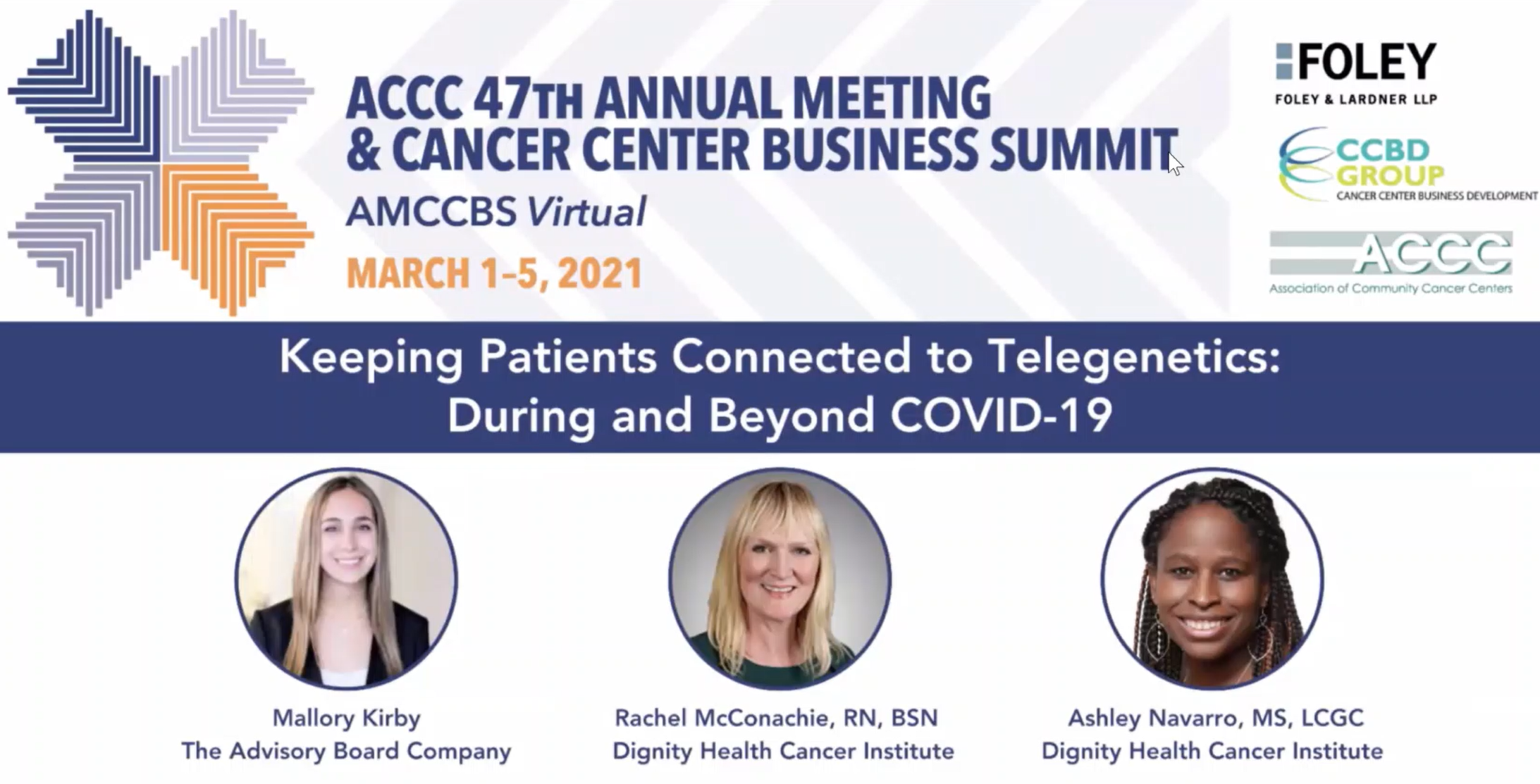 The Future of Cancer Care is Virtual: Top 5 Takeaways  From AMCCBS '21